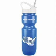 22 Oz. Bike Bottle w/ Sport Sip Lid & Straw - Solid Colors