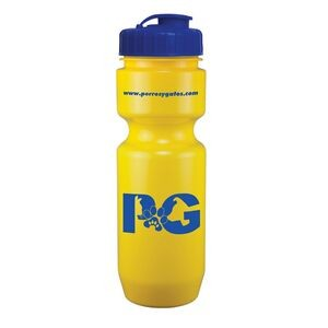 22 Oz. Bike Bottle w/ Flip Top Lid - Solid Colors