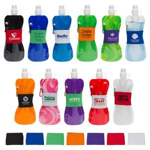 Comfort Grip Flex 16 oz Water Bottle with Neoprene Waist Sleeve